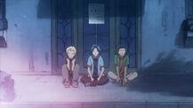 The idiot trio waiting