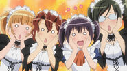 Excited maid latte girls