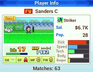 Player Info - Pocket League Story