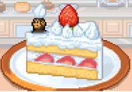 Chimpan Z in a cake