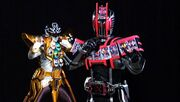 Decade Complete Form and Gokai Silver Gold Mode
