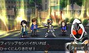 Fourze with Kengo, Yuki, and Philip Travelers Senki