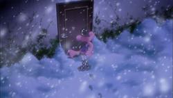 Keima's room in the snow