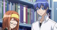 Akane and Natsuru talking about the Kampfer