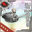 38.1cm Mk.I N Twin Gun Mount Kai 192 Card