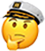 Thinking Admiral Emoji