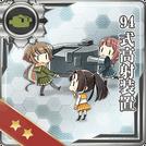 Type 94 Anti-Aircraft Fire Director 121 Card