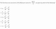 Maclaurin series1