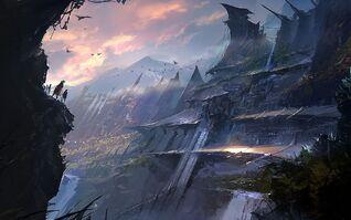 Fantasy Mountain Art Hd Background 9 HD Wallpapers