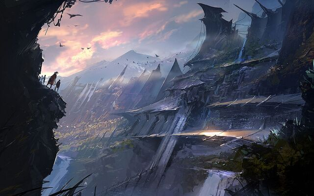 File:Fantasy Mountain Art Hd Background 9 HD Wallpapers.jpg