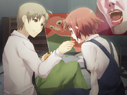 Hisao feeds Rin