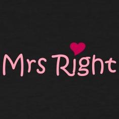 File:Black-Mrs-Right-(wedding,-honeymoon)-Women-s-T-shirts.jpg