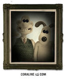 Wallace and Gromit with black buttons on eyespicture