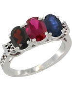 World-jewels-10k-white-gold-oval-natural-garnet-enhanced-ruby-natural-blue-sapphire-ring-size-9-5