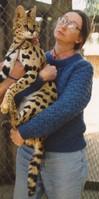 Pat & African serval