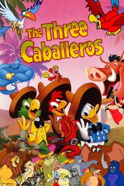 Simba, Timon, and Pumbaa's adventures of The Three Caballeros Poster