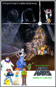Pooh's Adventures of Star Wars Episode IV A New Hope Poster