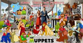 Simba, Timon and Pumbaa's Adventures of The Muppets Poster
