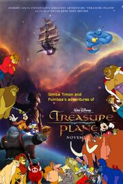 Simba Timon and Pumbaa's adventures of Treasure Planet Poster