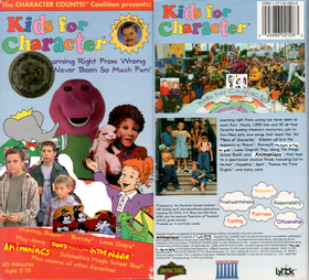 Kids For Character (Remake) VHS Front and Back
