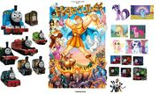 Thomas and Twilight Sparkle Meets Hercules poster