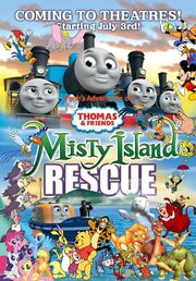 Pooh's Adventures of Thomas and Friends - Misty Island Rescue - The Movie Poster