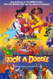 Simba Timon and Pumbaa's adventures of Rock A Doodle Poster