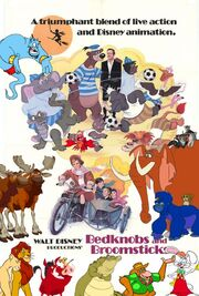 Simba, Timon and Pumbaa's adventures of Bedknobs and Broomsticks Poster