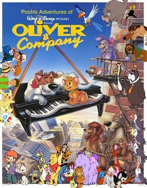 Pooh's Adventures of Oliver & Company poster (Version 6)