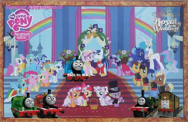 Thomas' Adventures of My Little Pony Friendship is Magic - A Canterlot Wedding Poster
