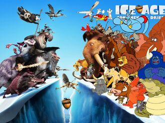 Simba, Timon, and Pumbaa's Adventures of Ice Age Continenal Drifit