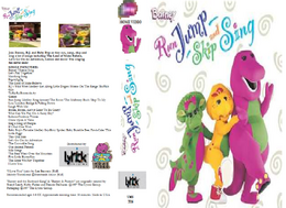 Barney's Run, Jump, Skip and Sing! VHS Cover