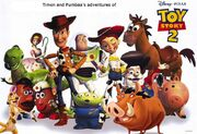 Timon and Pumbaa's adventures of Toy Story 2 Poster
