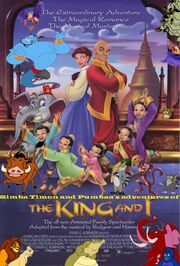 Simba Timon and Pumbaa's adventures of The King and I poster