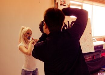 Kerli NOH8 Campaign Behind the Scenes Celebuzz 13