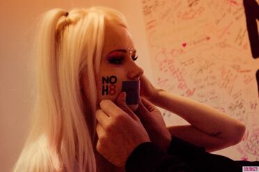Kerli NOH8 Campaign Behind the Scenes Celebuzz 5