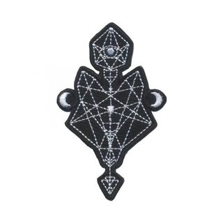 "<b>Diamond Wolf Patch</b><br />$7.00<br />Iron on diamond wolf patch. Measures 3.5"" x 2.1"""