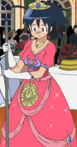 File:Aki as a Princess (Maybe she Cindrella what with that broom).png