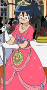Aki as a Princess (Maybe she Cindrella what with that broom)