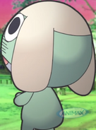 Look at Keroro's stomach