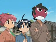 Natsumi, Fuyuki and Giroro in Ming Dynasty Wanli