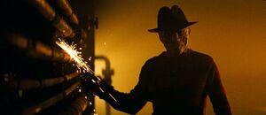 Freddy in boiler room