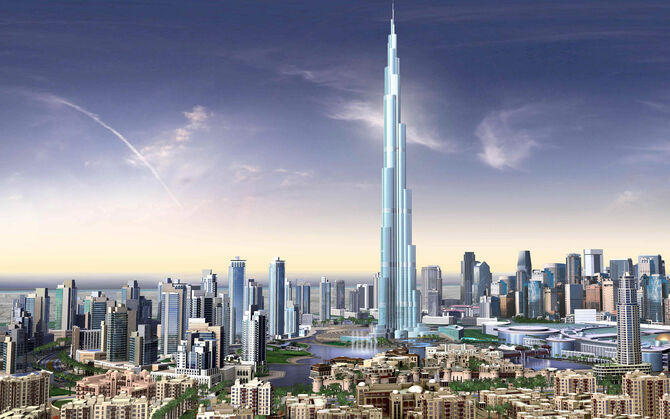 Burj dubai skyscrapers uae-wide