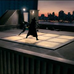 Kick-Ass fighting The MotherFucker on the Roof