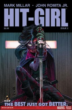 Hit-Girl cover of issue 2
