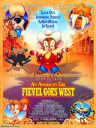 Heckle and Jeckle's Adventures of An American Tail - Fievel Goes West Poster