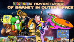 Kids World's Adventures Of Barney in Outer Space Poster