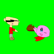 Kirby giving Numbuh 1 a wig