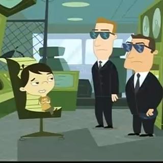 Dennis meets men from Area 52