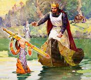 Arthur recieves the sword Excalibur